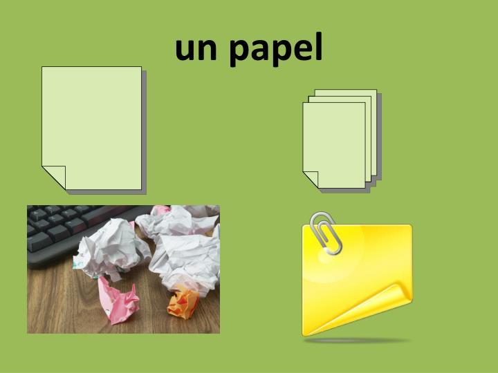 un papel