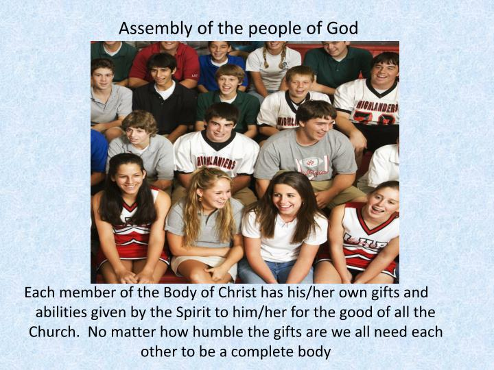 Assembly of the people of God
