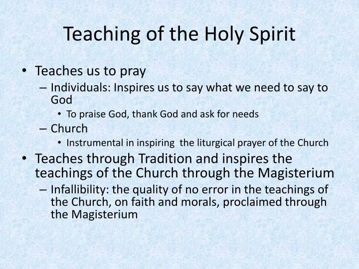 Teaching of the Holy Spirit