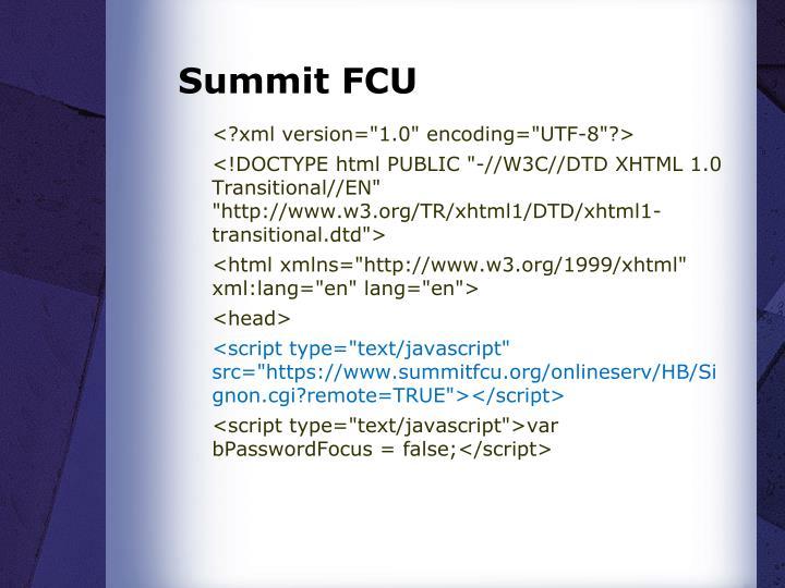 Summit FCU