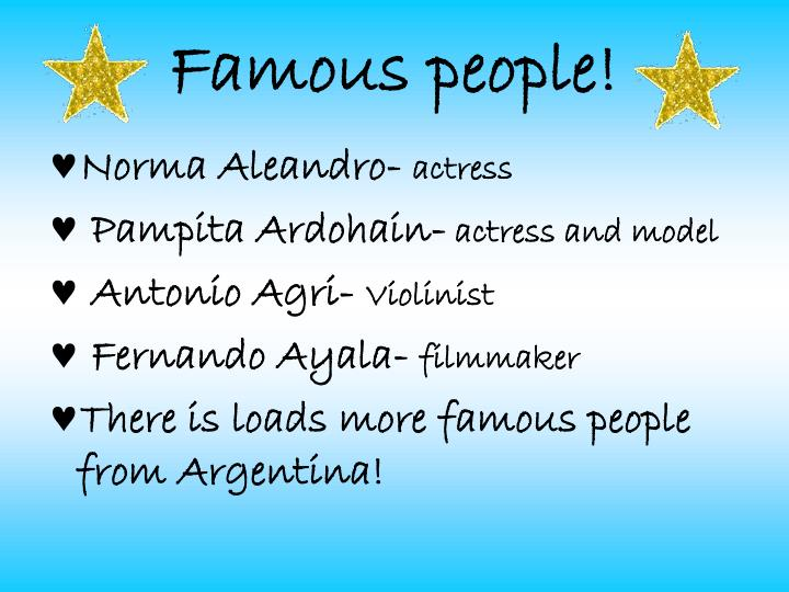 Famous people!