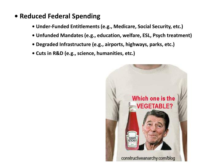 • Reduced Federal Spending