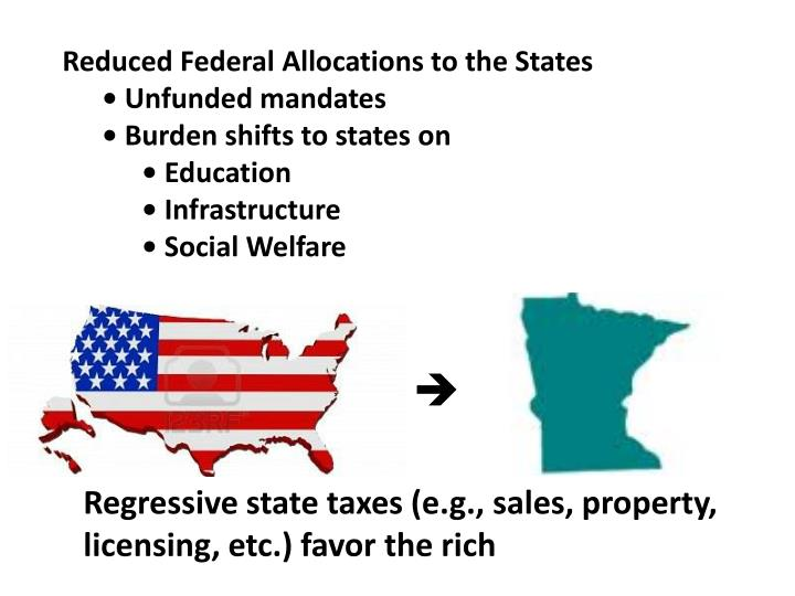 Reduced Federal Allocations to the States
