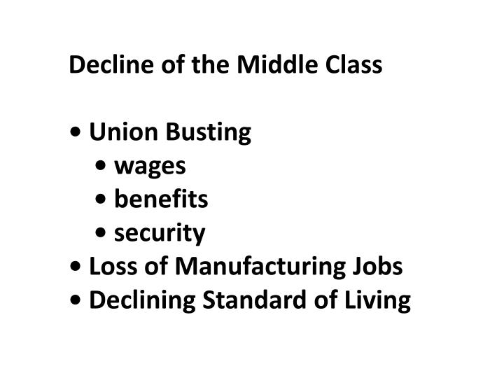 Decline of the Middle Class