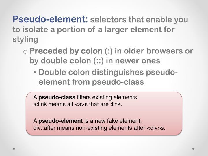 Pseudo-element:
