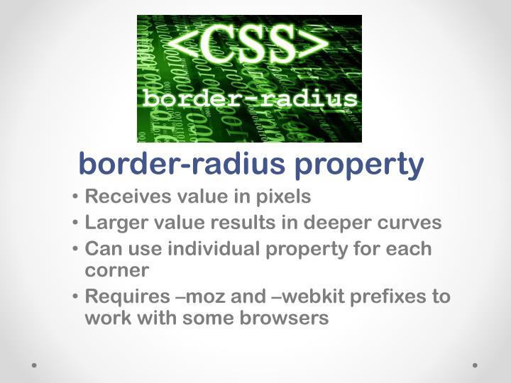 border-radius property