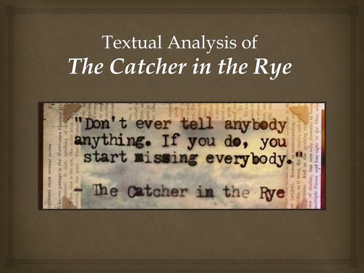 Analyzing Symbols In The Catcher In College Paper Academic Service