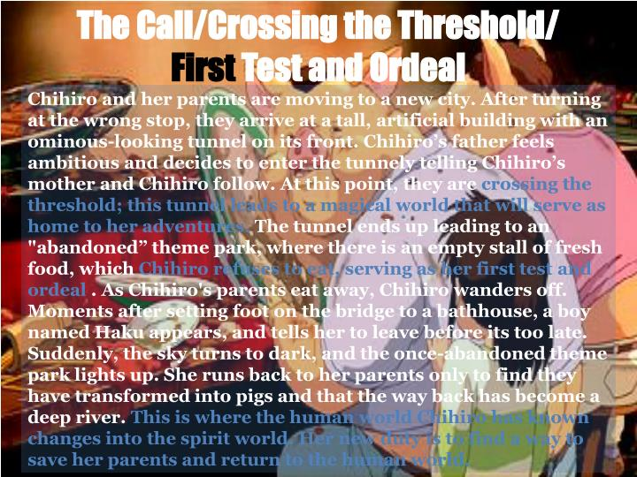 The call crossing the threshold first test and ordeal