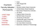 fourteen faculty adopter participants