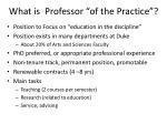 what is professor of the practice