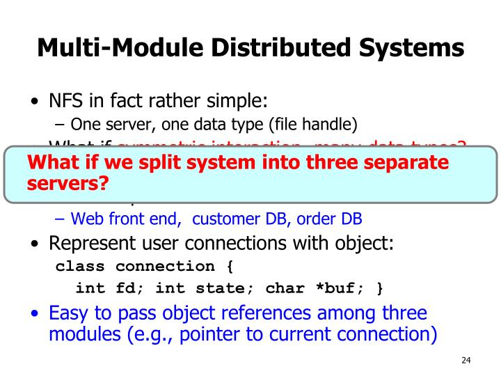 What if we split system into three separate servers?