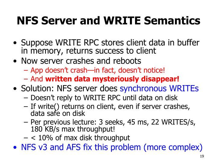 NFS Server and WRITE Semantics