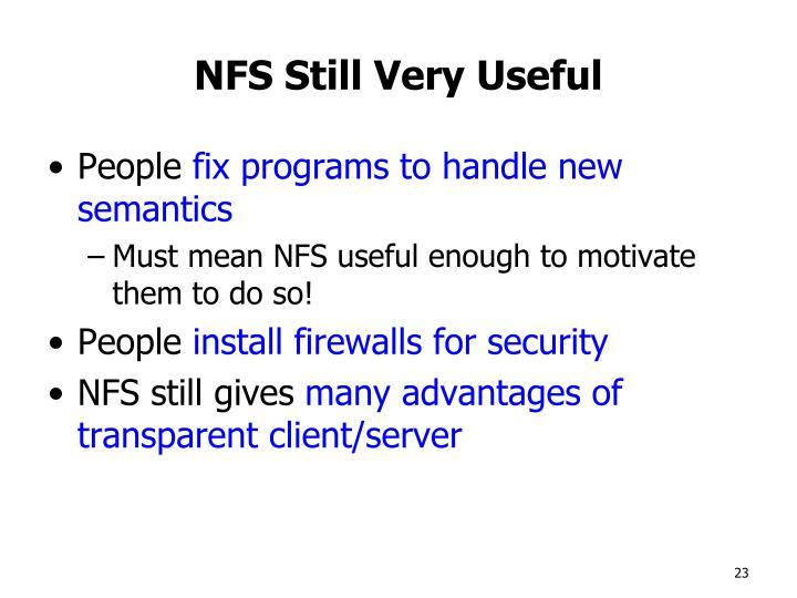 NFS Still Very Useful