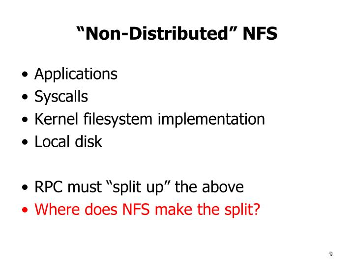 """Non-Distributed"" NFS"