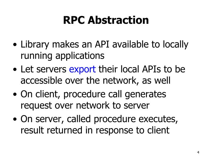 RPC Abstraction