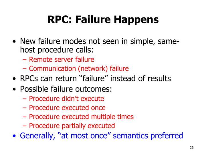 RPC: Failure Happens