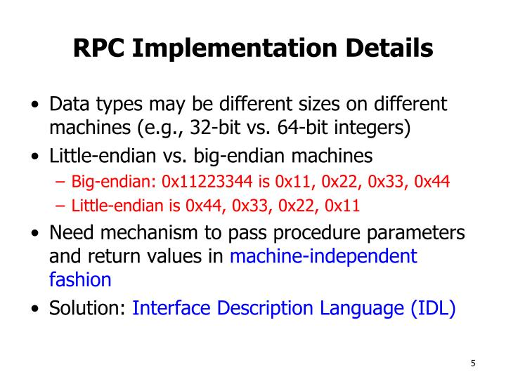 RPC Implementation Details