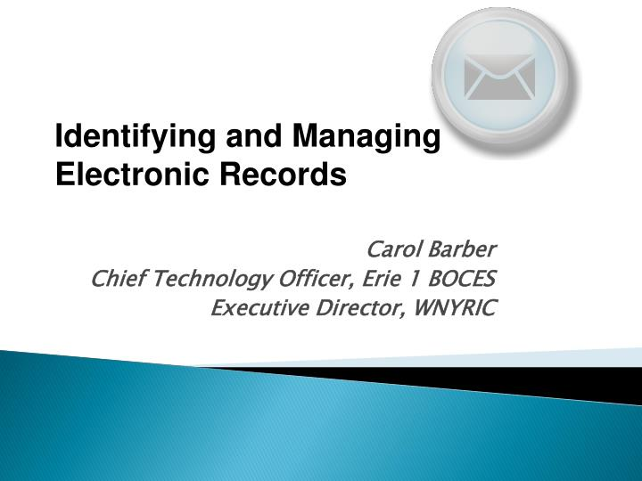 Carol barber chief technology officer erie 1 boces executive director wnyric