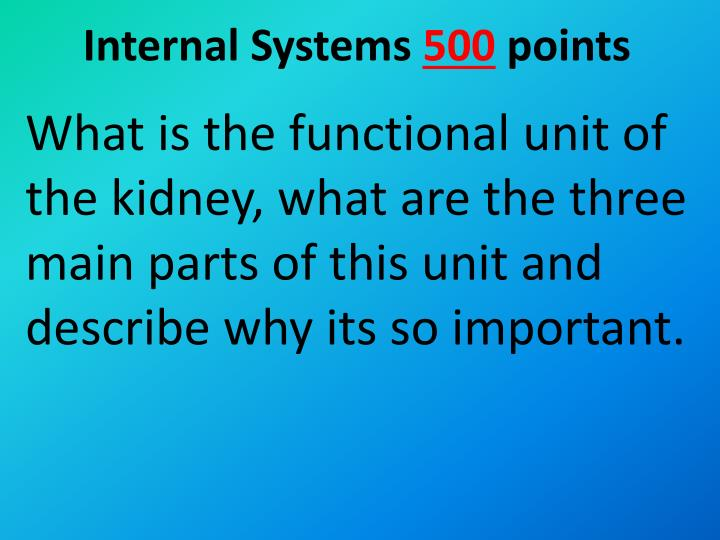 Internal Systems