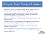 charge to panel business breakouts8