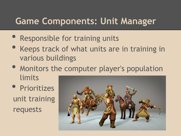 Game Components: Unit Manager