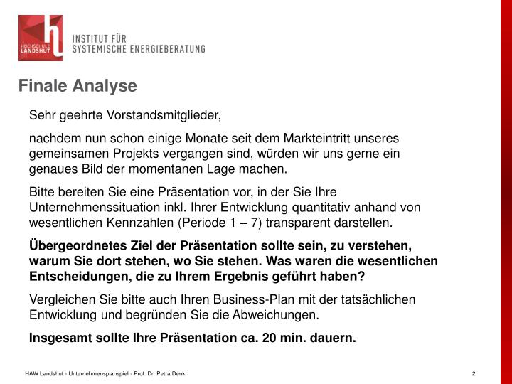 Finale Analyse