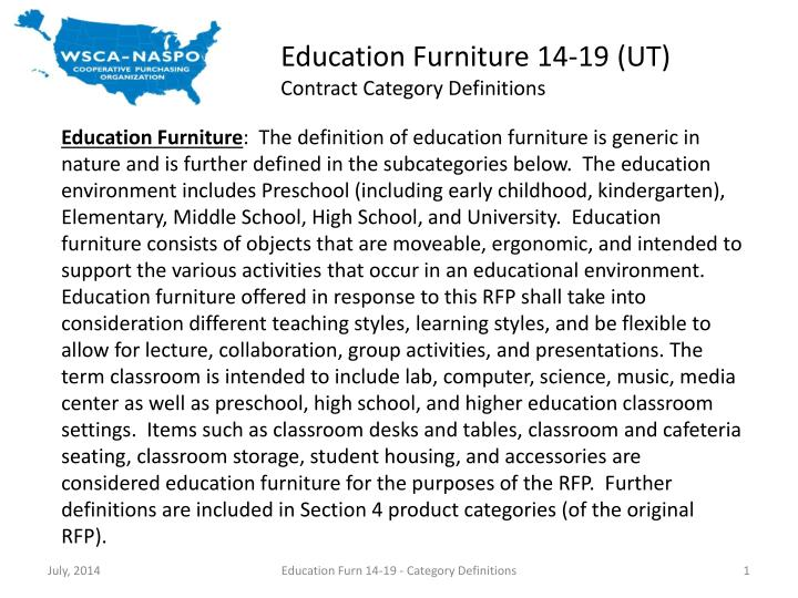 Education Furniture 14-19 (UT)