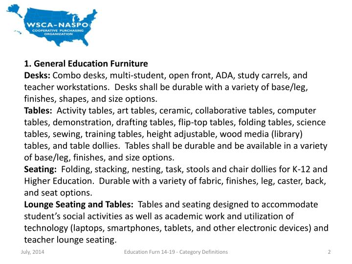 1. General Education Furniture