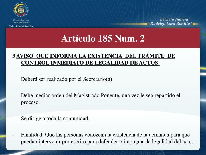 Artículo 185