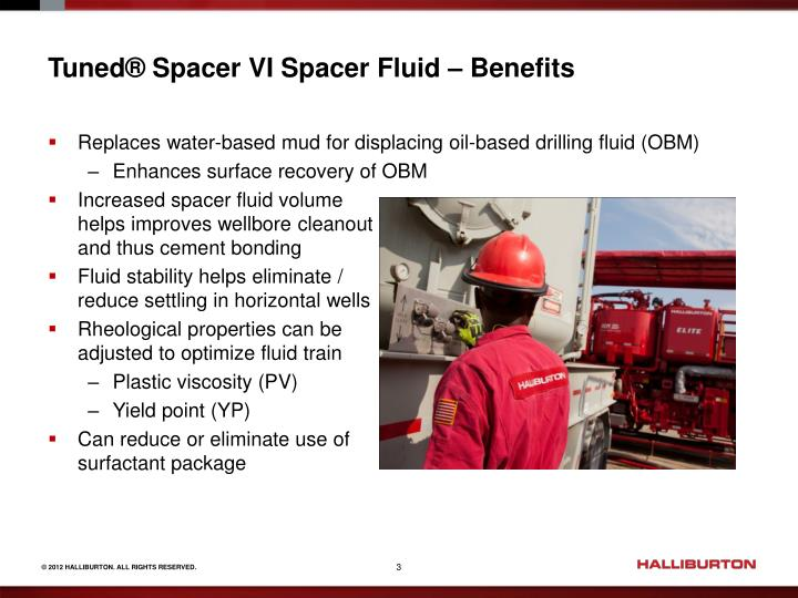 Tuned spacer vi spacer fluid benefits