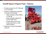 tuned spacer vi spacer fluid features