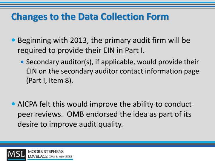 single audit data collection form due date Federal awards, even if the single audit threshold is not reached the format prescribed by the data collection form (ie 2014-‐001) – this guidance further clarified that if the due date for a single audit falls on a saturday.