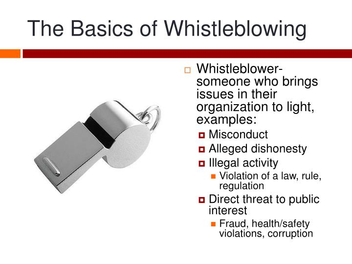 whistle blowing presentation Free essays on whistle blowing for students use myessayservicescom papers to help you.