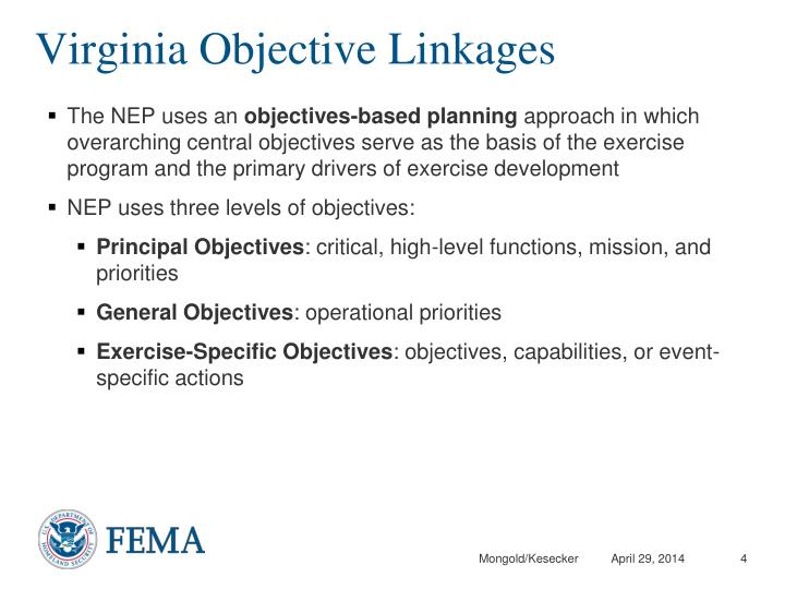 Virginia Objective Linkages