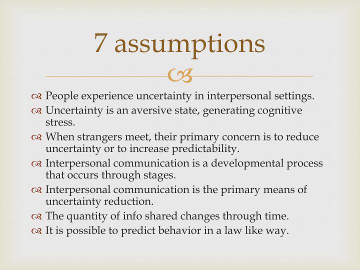 7 assumptions