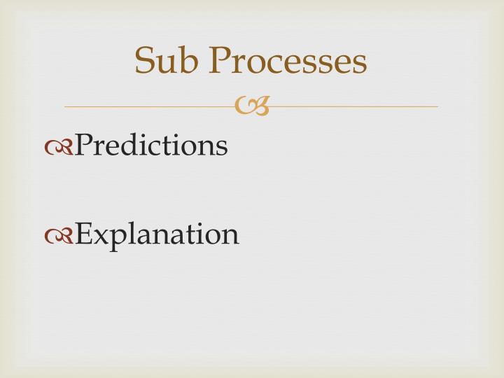 Sub Processes