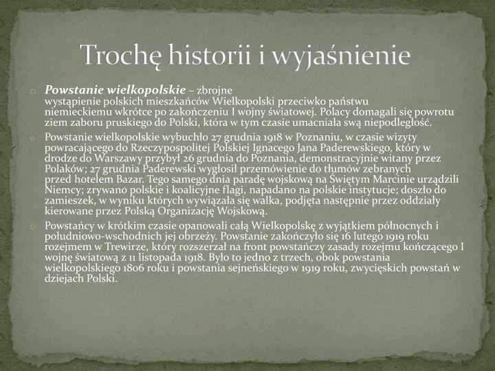 Trochę historii i wyjaśnienie
