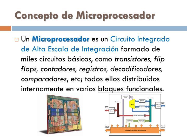 Concepto de Microprocesador