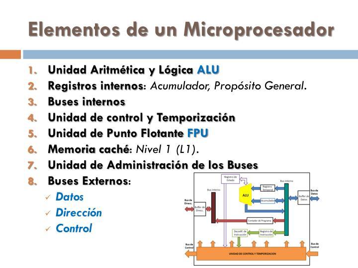Elementos de un Microprocesador