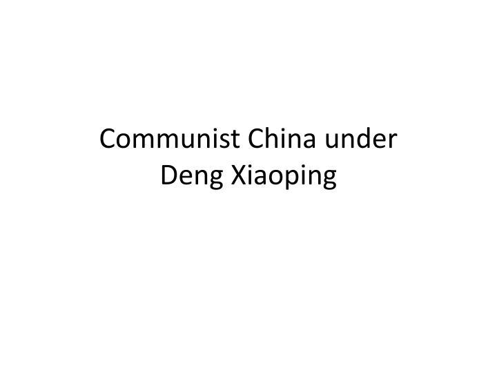 Communist China under