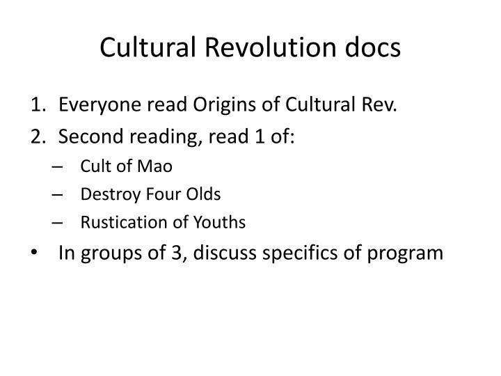Cultural Revolution docs