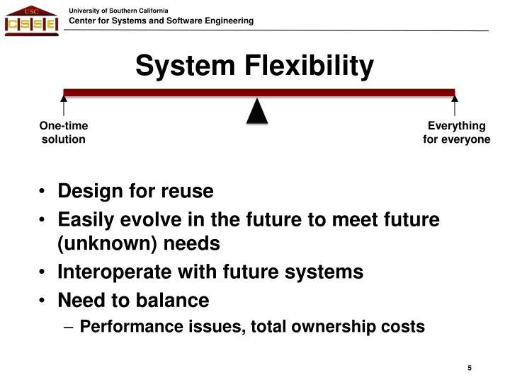 System Flexibility