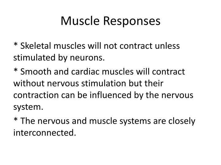 Muscle Responses