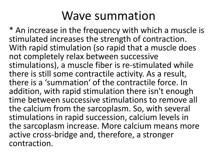 Wave summation