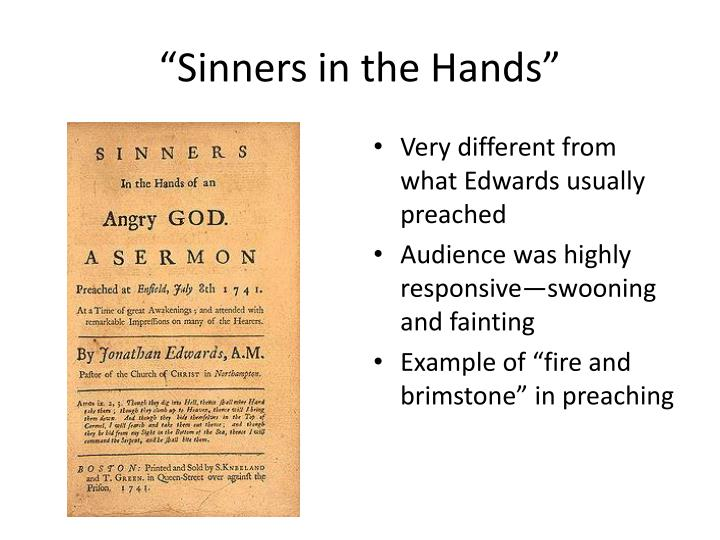 """Sinners in the Hands"""