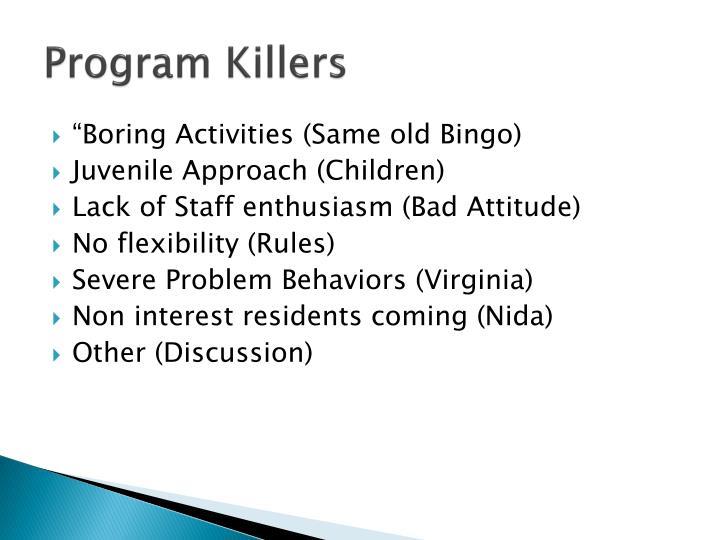 Program Killers