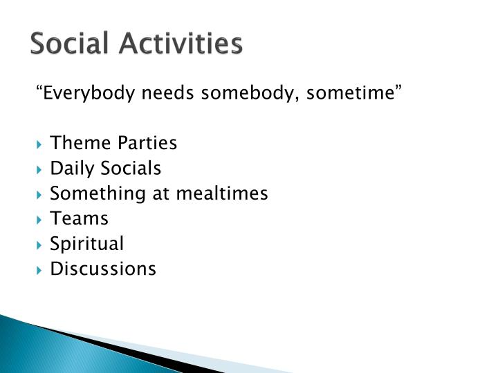 Social Activities