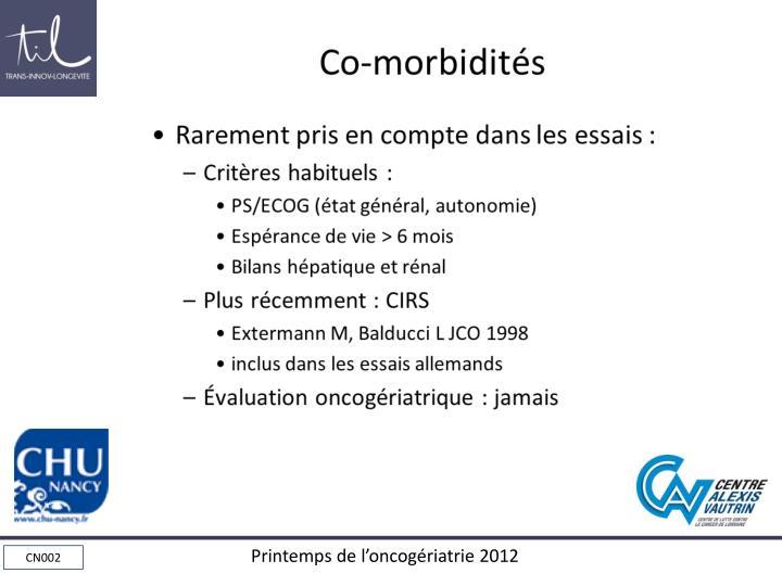 Co-morbidités