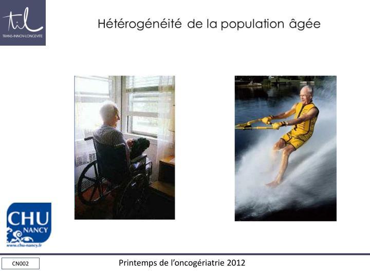 Hétérogénéité de la population âgée