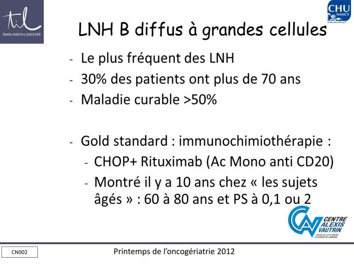 LNH B diffus à grandes cellules
